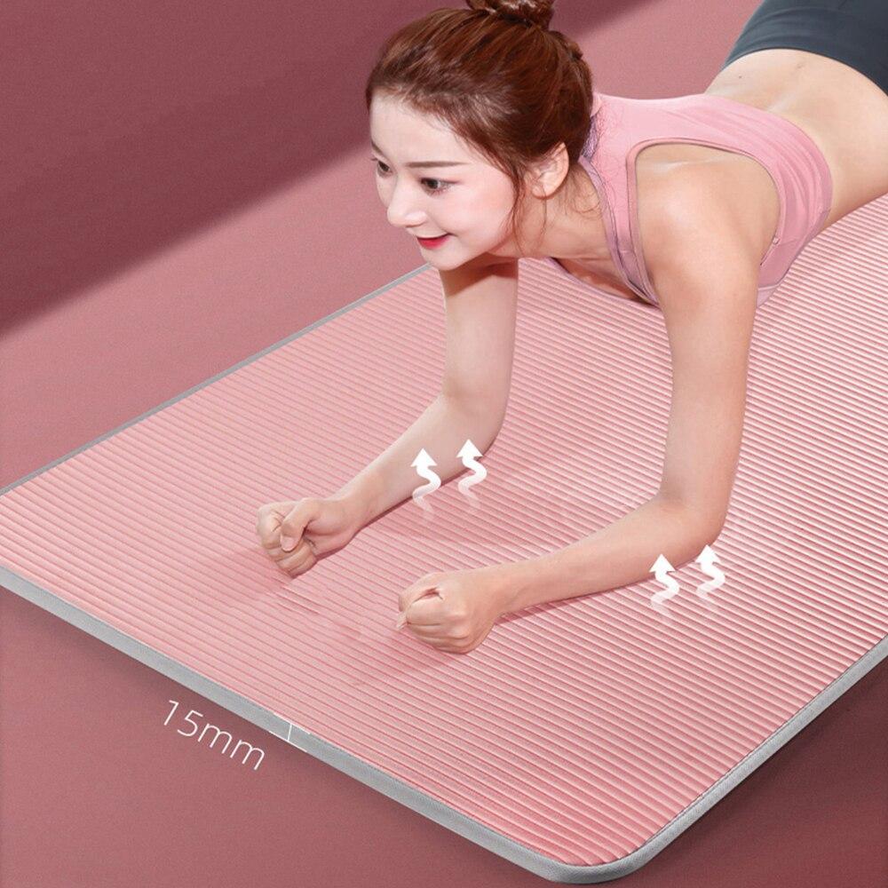 15mm Yoga Mat Carpet  Non-slip Sports Tear Resistant NBR Fitness Mats Sports Gym Pilates Pads With Yoga Bag & Strap  XA111Y